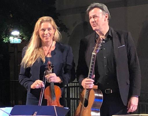 Annalisa assieme al marito Pier Luigi Corona (ph. Biblioteca di Ronchi dei Legionari)
