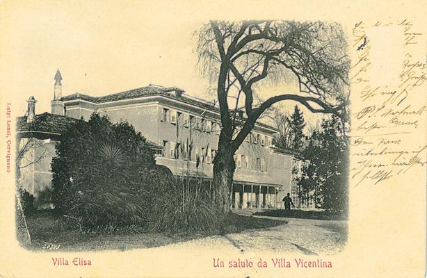 Cartolina di Villa Elisa agli inizi del XX secolo (ph. Michele Tomaselli)