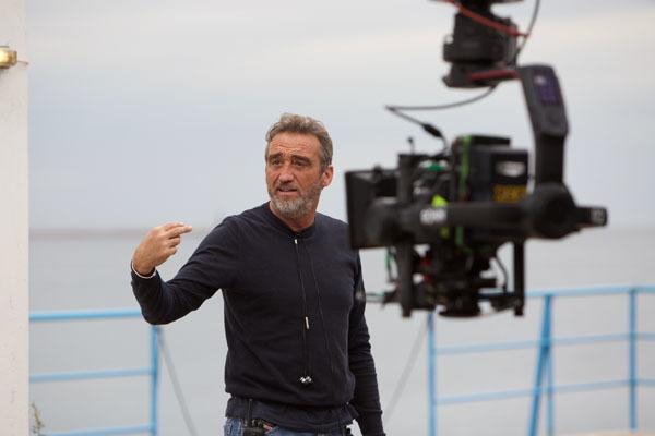 "Carmine Elia sul set di ""La porta rossa 2"""