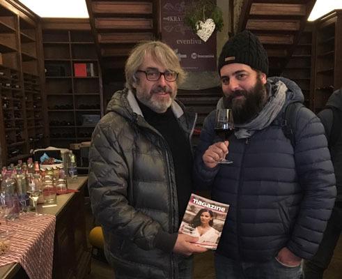 Da sinistra il direttore di iMagazine, Andrea Zuttion, assieme al regista Matteo Oleotto