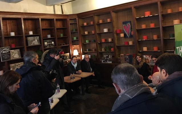Una fase della conferenza stampa