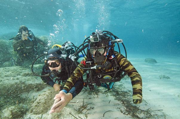 Sergio Cechet in immersione