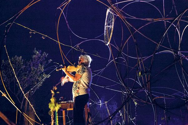 La musicista Sylva Hallet (© Luigi Vitale)