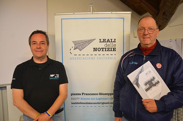Da sinistra il presidente di Leali delle Notizie, Luca Perrino, e Livio Nonis: iMagazine è media partner del festival
