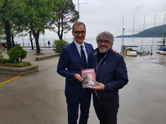 Mitja Gialuz assieme al direttore di iMagazine, Andrea Zuttion