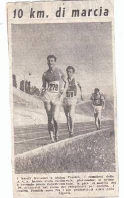Articolo de Il Secolo XIX pubblicato nel 1952