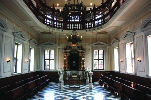L'interno della sinagoga di Gorizia