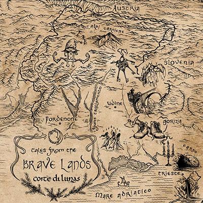 La copertina dell'album Tales from the Brave Lands