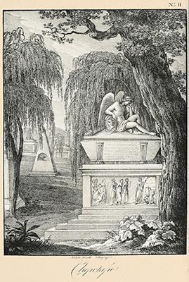 Progetto di Domenico Rossetti per il cenotaffio di Johann Joachim Winckelmann, dal volume Il Sepolcro di Winckelmann in Trieste (Venezia 1823)