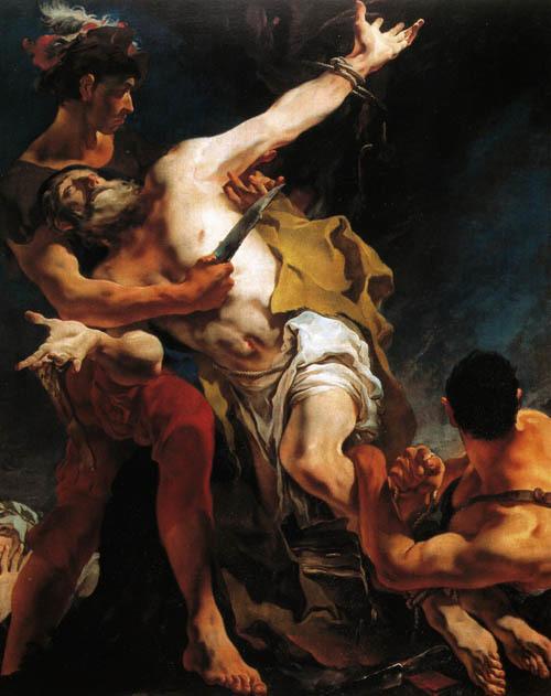 """G. Tiepolo, """"Martirio di S. Bartolomeo"""" (Venezia, chiesa di S. Stae)"""