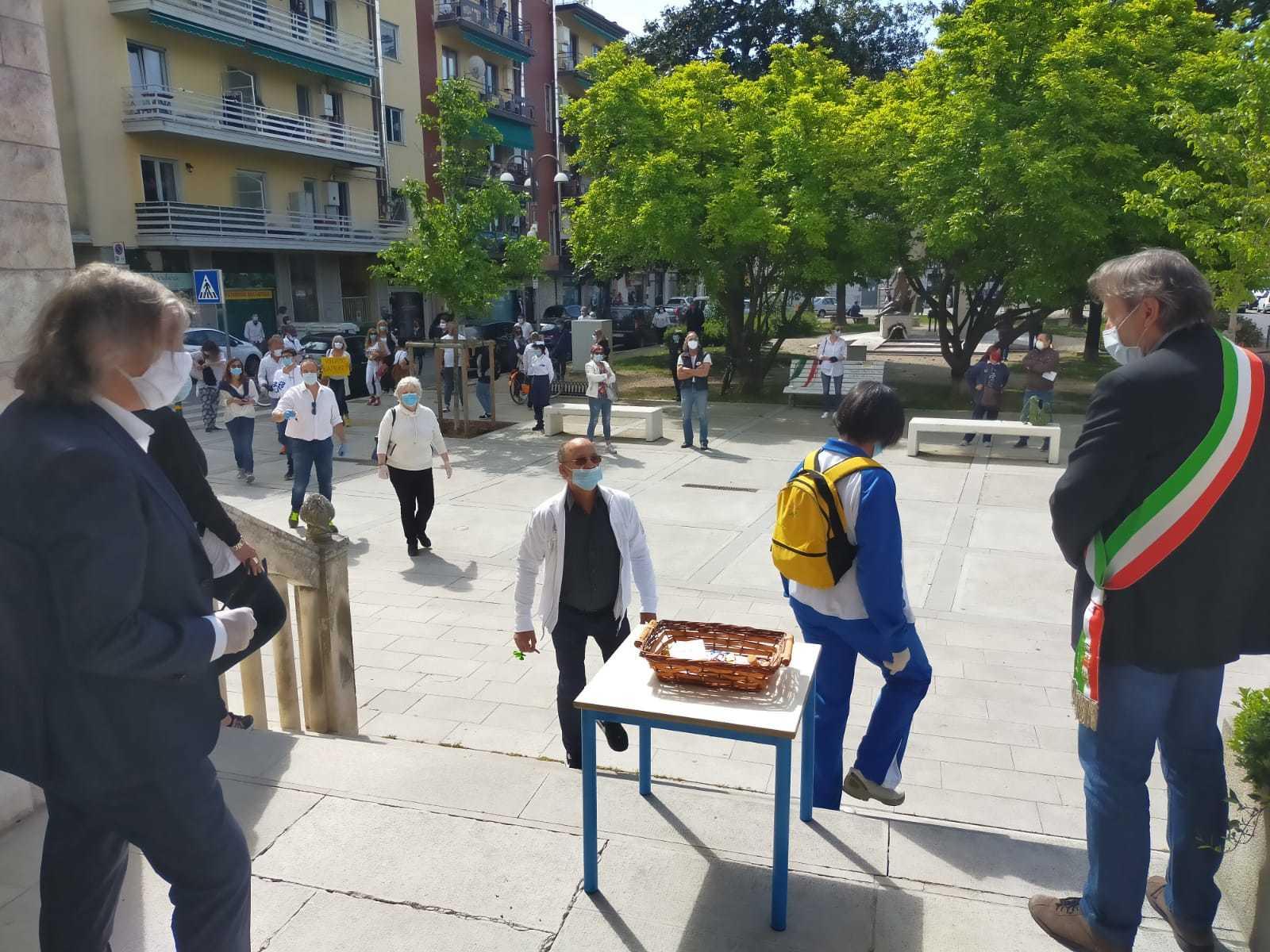 La protesta dei commercianti di Ronchi dei Legionari