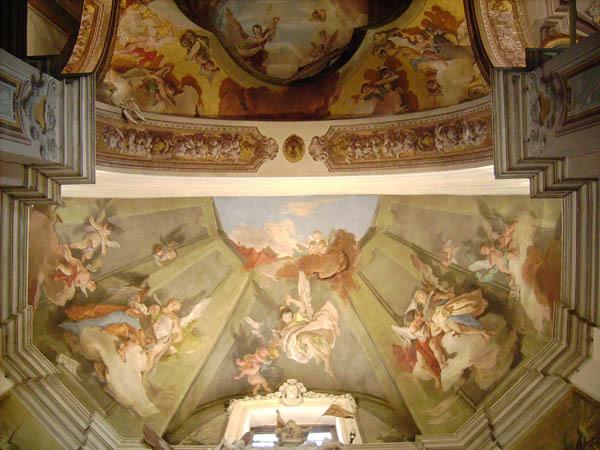 Udine, duomo, Cappella del SS. Sacramento: affresco di G. Tiepolo con gli angeli cantori
