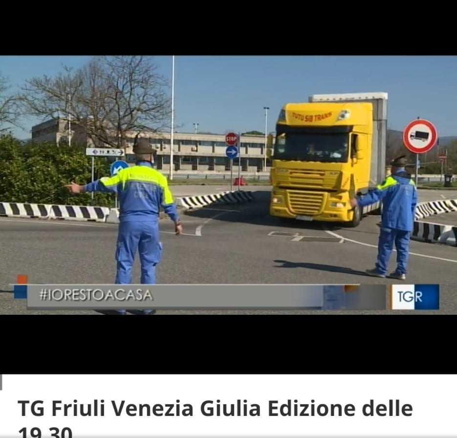 Servizio al valico di Sant'Andrea a Gorizia