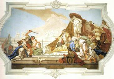 """G. Tiepolo, """"Giudizio di Salomone"""" (Udine, Palazzo Patriarcale)"""