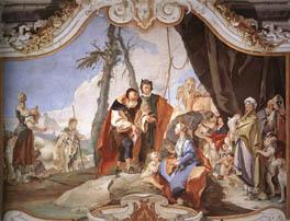"G. Tiepolo, ""Incontro fra Labano e Rachele che nasconde gli idoli"" (Udine, Palazzo Patriarcale)"