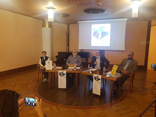 Da sinistra, Roberta Demartin, Giancarlo Velliscig. Matteo Polo e Dario Raugna durante la presentazione alla stampa