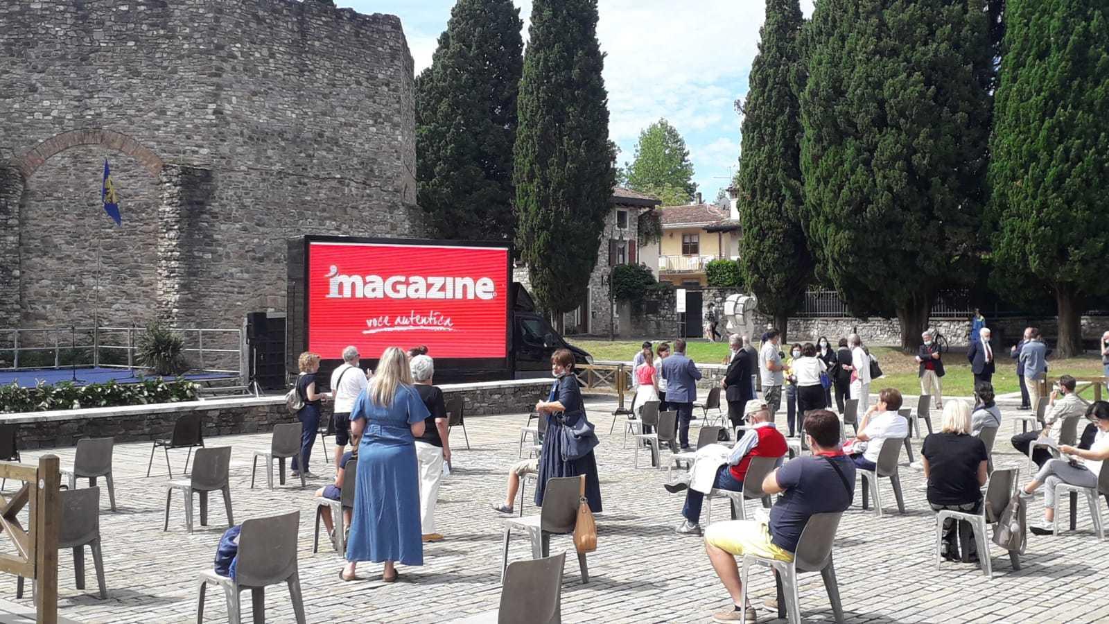 I video della presentazione sono stati trasmessi sull'iMagazineVideoTruck (ph. Simone Bevilacqua)