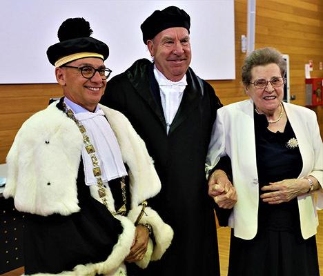 Da sinistra Roberto Pinton, Giovanni Battista Colussie, la madre Oliva
