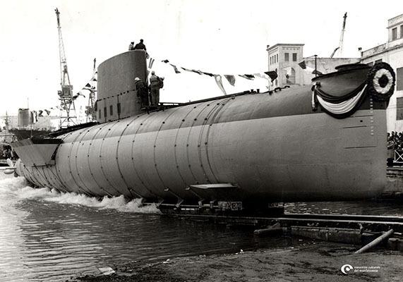 Il varo del Sottomarino Toti (© CCM - Fondo Cuscunà)