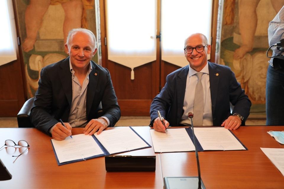 Da sinistra Moreno Argentin e Roberto Pinton