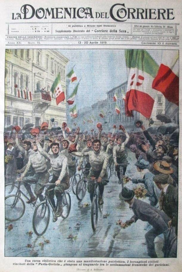 La prima pagina della Domenica del Corriere del 13 aprile 1919