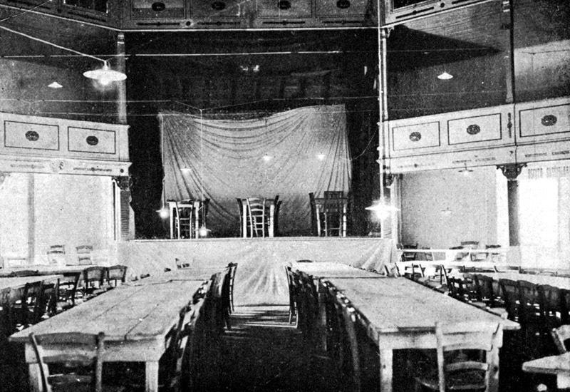 Teatro Maran, la sala di lettura dell'Università Castrense (1916-1917)