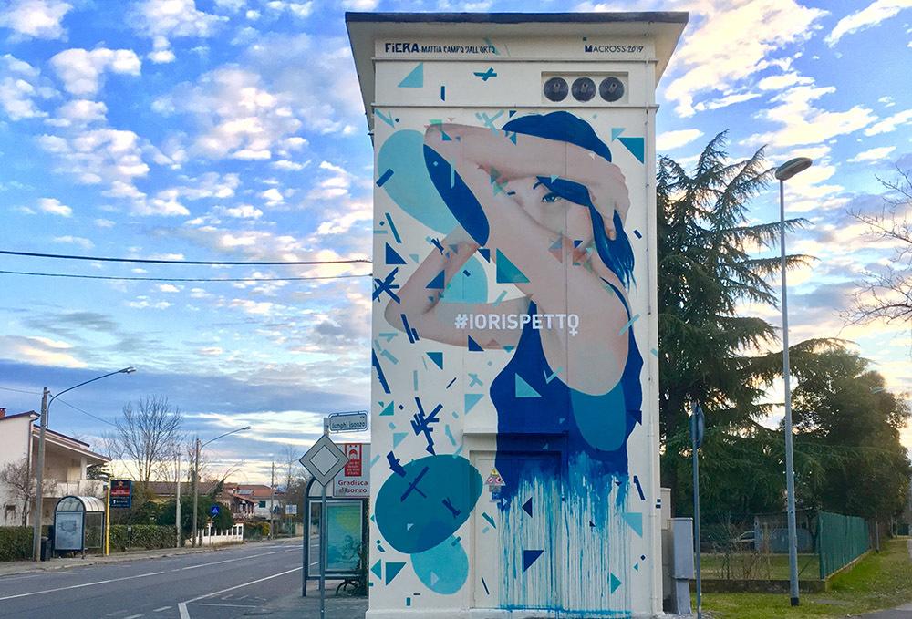 FIERA, opera realizzata ad Campo Dall'Orto a Gradisca d'Isonzo in collaborazione con Associazione Macross