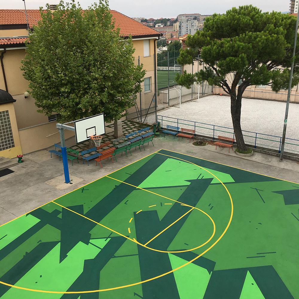PLAY TOGETHER, opera realizzata da Campo Dall'Orto a Trieste in collaborazione con Edilmaster