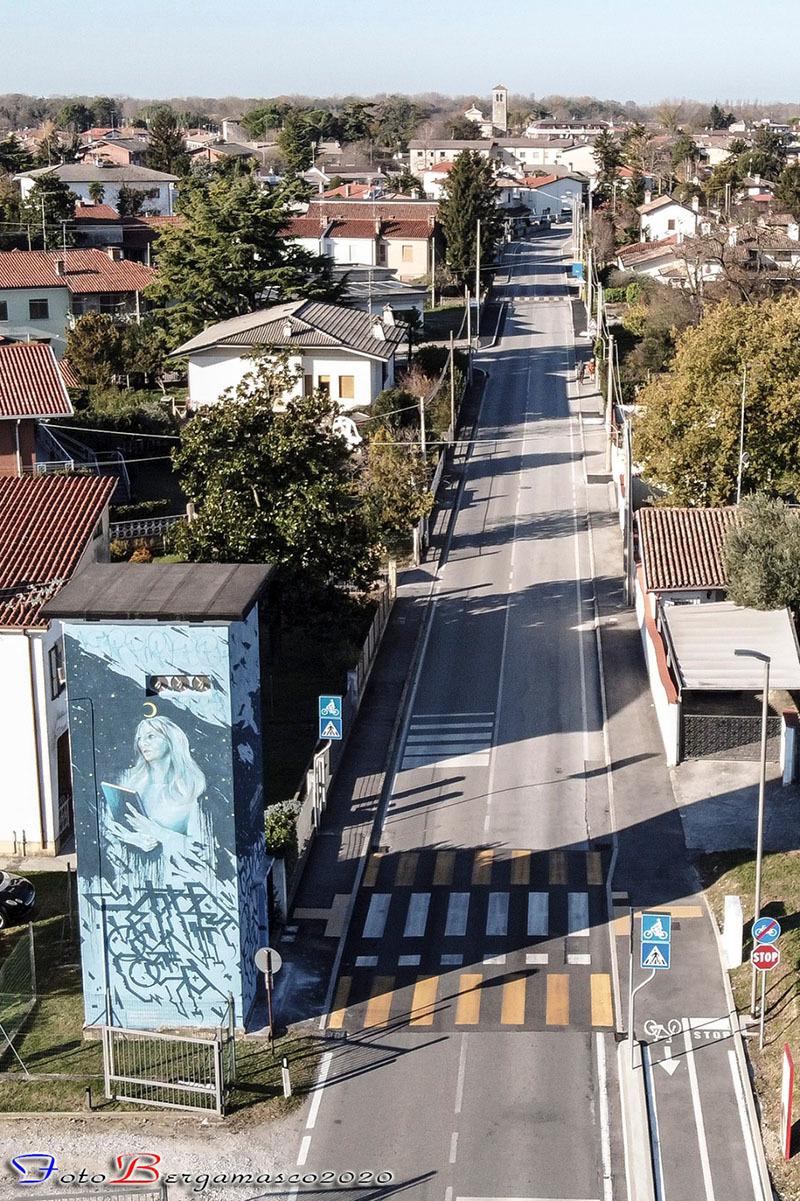 Il murale di Turriaco ultimato (ph. Fabio Bergamasco)