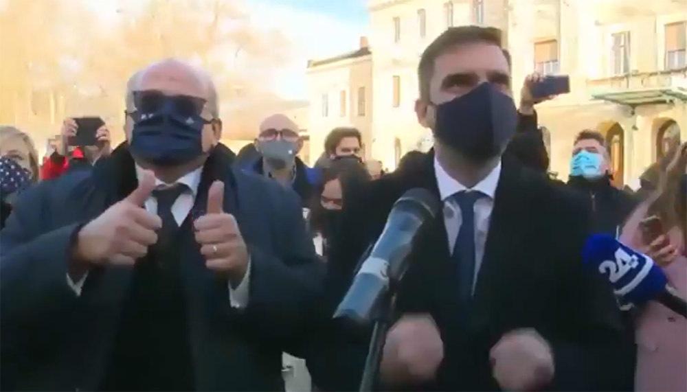 Il sindaco Ziberna festeggia assieme al primo cittadino di Nova Gorica