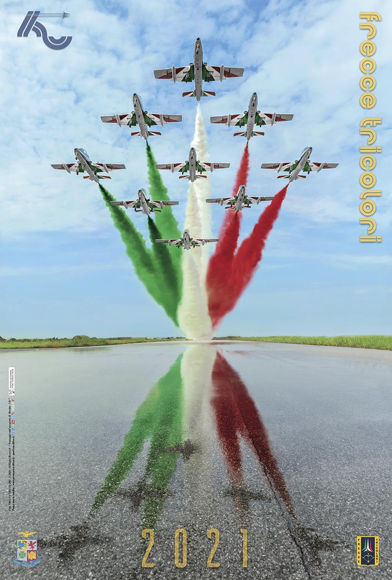 Il Poster 2021 delle Frecce Tricolori