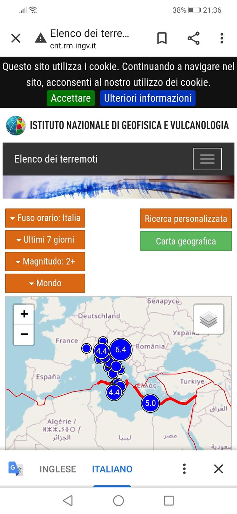 Sul web le indicazioni su come comportarsi in caso di terremoto