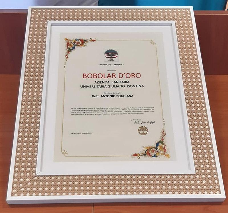 Staranzano, le premiazioni del Bobolar