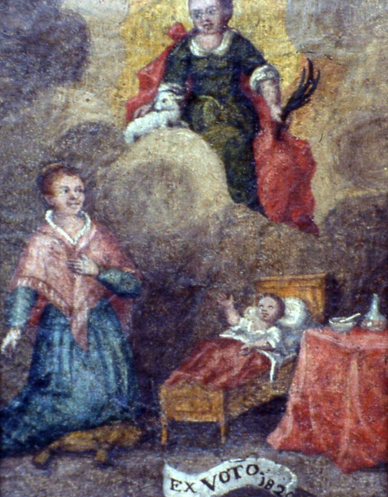 Ex voto nella parrocchiale di Joannis