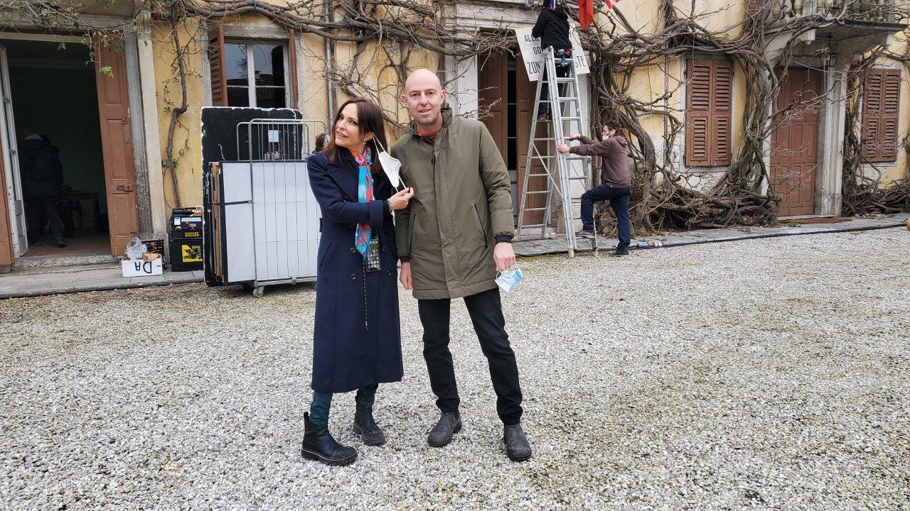 La regista Paula Ortiz con il Presidente della FVG Film Commission Federico Poillucci