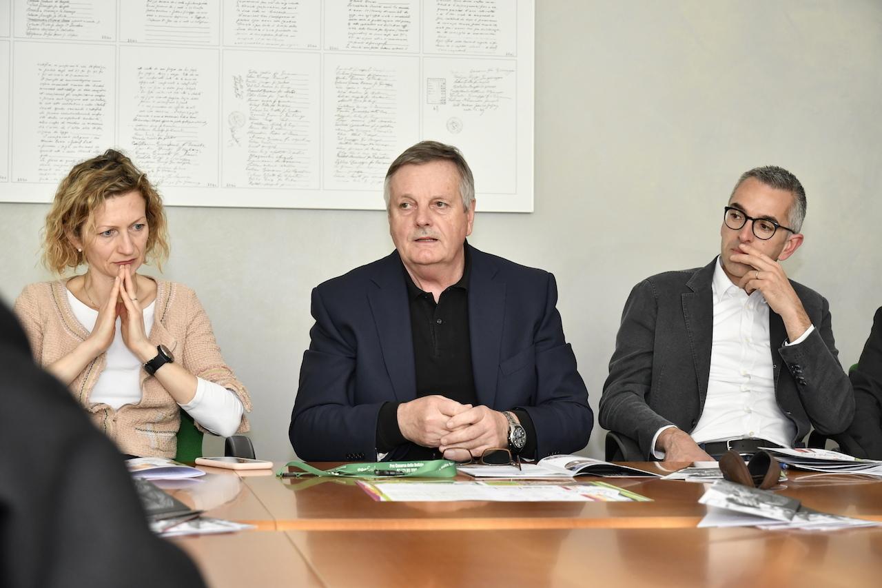 Da sinistra Clarotto, Tesolin e Bellomo alla presentazione dell'edizione 2019