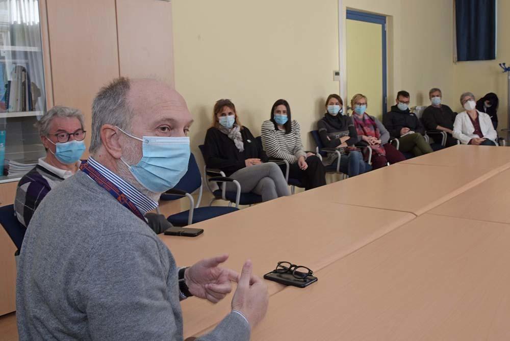 L'incontro con il personale del Distretto 4 (ph. ARC Montenero - Regione FVG)