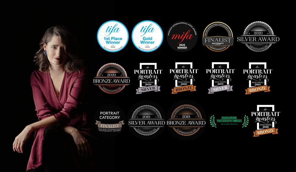 Claudia Guido con tutti i riconoscimenti vinti in carriera