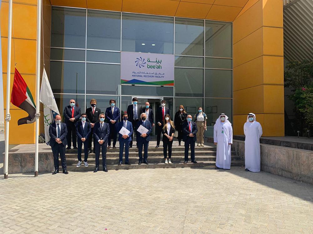 Foto di gruppo della delegazione Cisambiente