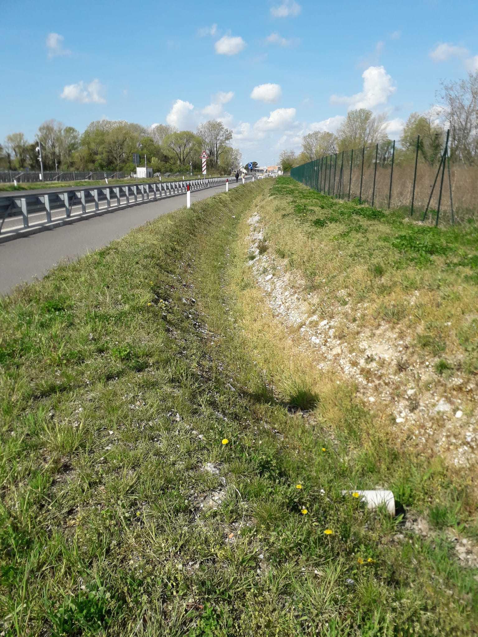 Monfalcone, ripulito il fossato di Panzano