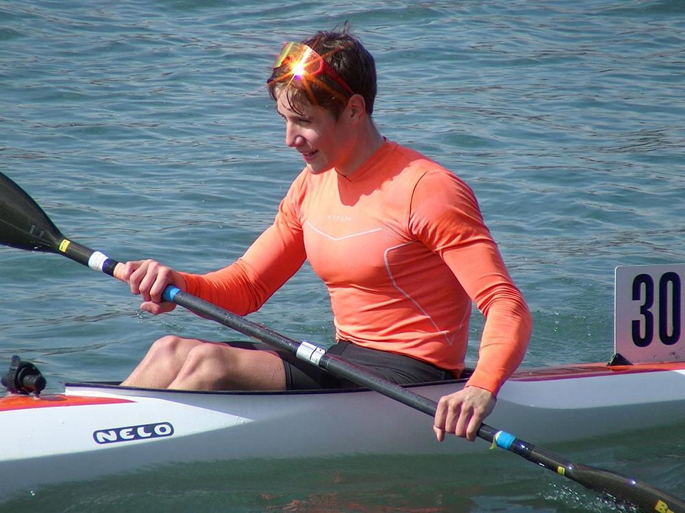 Federico Zanutta nel kayak