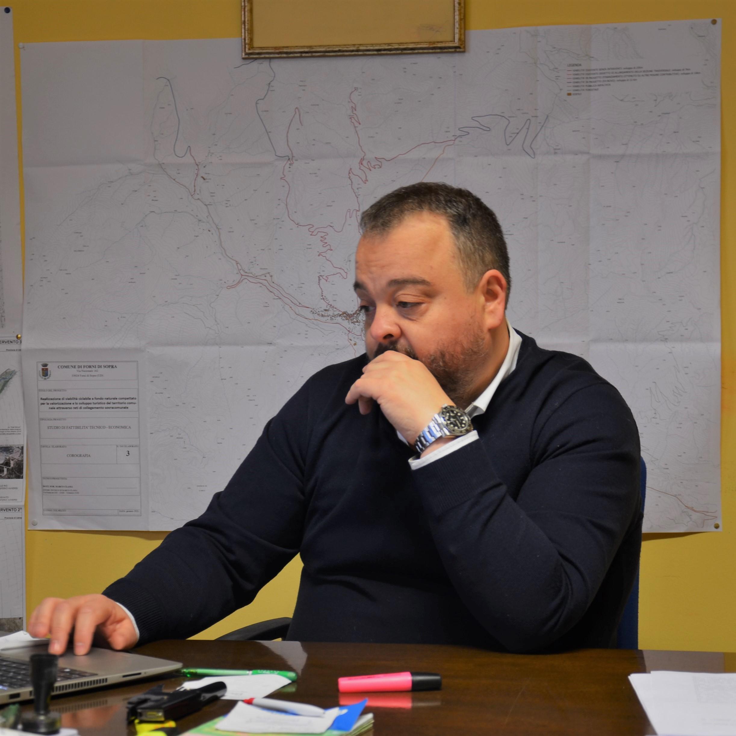 Il sindaco Marco Lenna