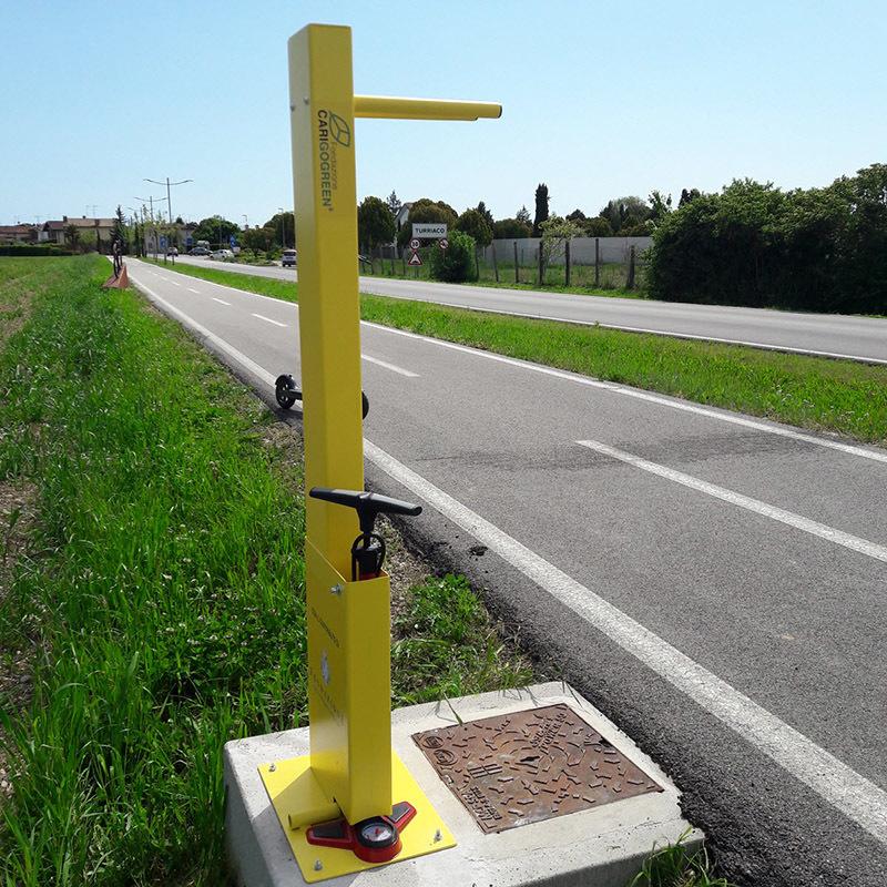 La stazione di servizio per le biciclette