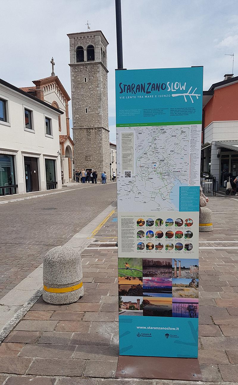 Uno dei totem installati a Staranzano