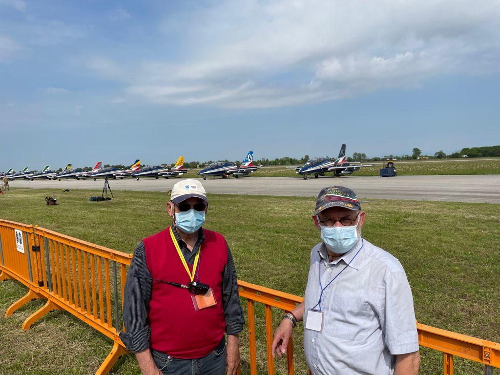 I nostri Claudio Pizzin (a destra) ed Enzo Andrian inviati a Rivolto