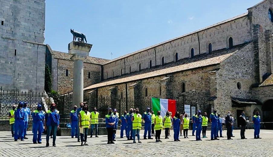 I volontari della Protezione civile di Aquileia