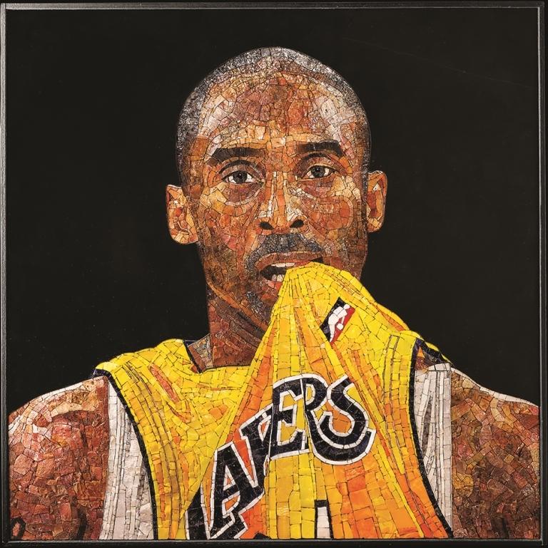 Kobe Bryant nel mosaico di Noemi Roma