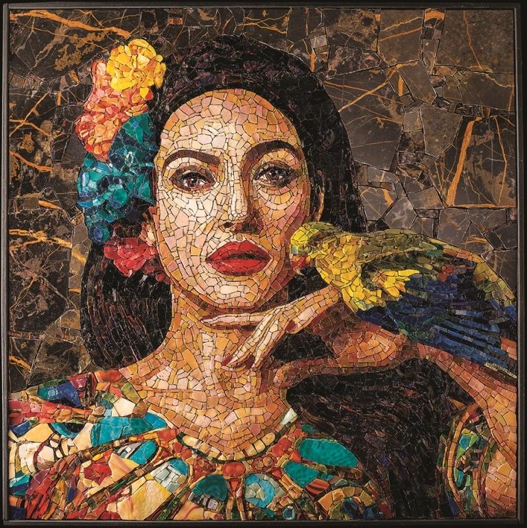 Monica Bellucci nel mosaico di Adelaida Sharakhova