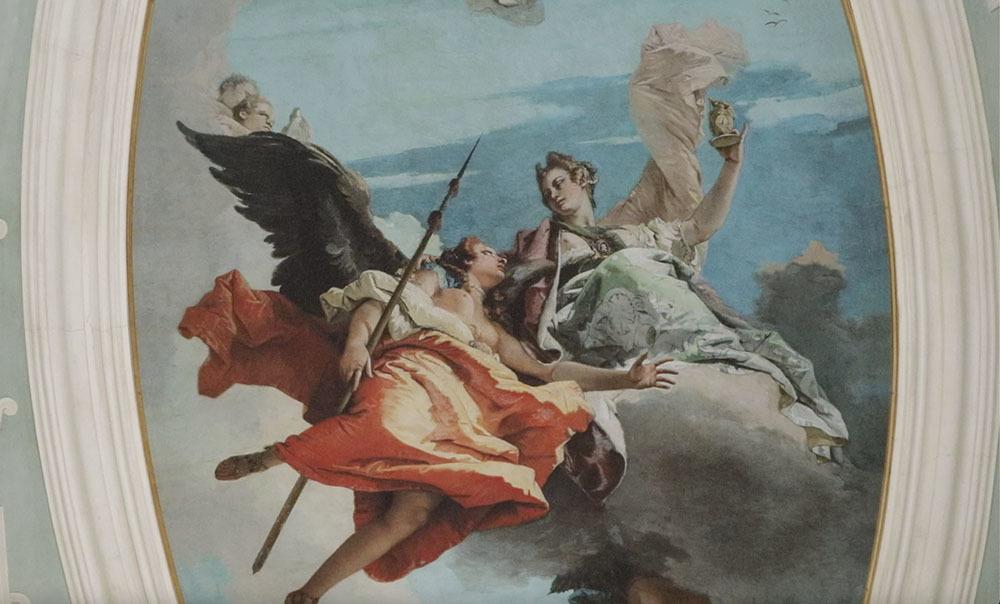 Dettaglio della riproduzione del dipinto del Tiepolo