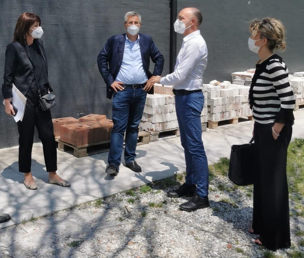 Da sinistra Rosolen, Petrucco, Zanor e Martina